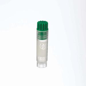 WHEATON® 2mL Internal Thread CryoElite Vials, Green Caps, Label, sterile, case/500