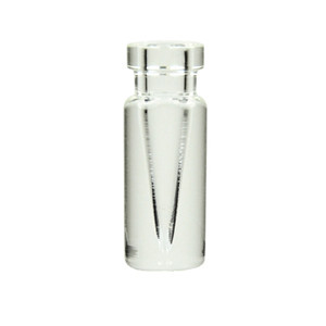 WHEATON® 0.1mL Borosilicate Glass V-Vials, Clear, Crimp Finish, No Caps, case/12