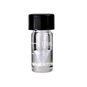 WHEATON® 0.3mL, Graduated Glass V-Vials, 13-425, PTFE Faced Rubber Liner, case/12