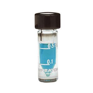 WHEATON® 1mL, Graduated Glass V-Vials, 13-425 Hole Caps & PTFE/Silicone Septa, case/12
