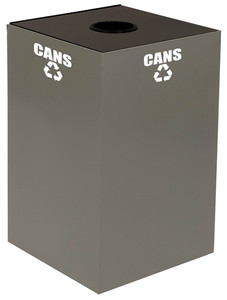 Square Recycle Bin, 24 gallon GeoCube, Indoor, Choose Color