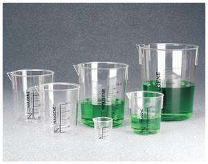 Nalgene® 1203-4000 PMP Beakers, Low-form Griffin Beaker, 4 Liter, case/4