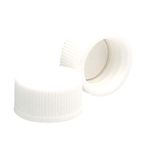 WHEATON® 13-425 PP Caps, White, PTFE Liner, case/144