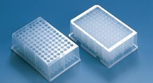 96 Deep-Well Plate, PS, Stackable, 1.1mL, Non-Sterile, case/32