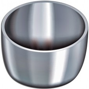 Zirconium Crucible, no Cover, Low-Form, Wide, Rounded Pattern, 55ml