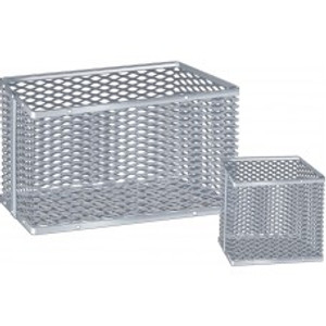 "Aluminum Lab Ware Cleansing Basket, 12"" x 12"" x 2.5"""