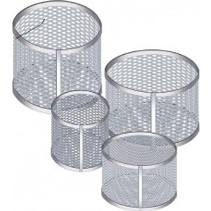 "Aluminum Test Tube Cleansing & Dip Sterilization Basket, Round Tip, 10"" x 9"""
