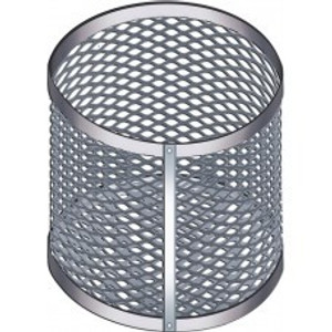 "Aluminum Test Tube Clean & Dip Basket, Round Tip, Epoxy-Coated, 10"" x 6"""