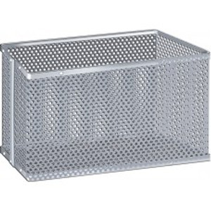 """Micro-Perforated Aluminum Biology Basket & Carrier, 6"""" x 6"""" x 2.5"""""""