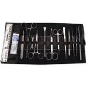 Deluxe Dissecting Set, Stainless Steel Instruments, 27pcs, Leatherette Case