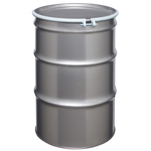 Stainless Steel Drum, 55 gallon, Open Head