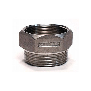 "2"" NPT Drum Funnel Adapter, Stainless Steel Thread Guard"