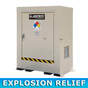 Outdoor Storage Locker, Non-Combustible, 2-Drum with Explosion Relief