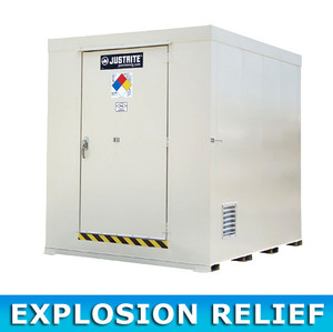 Outdoor Storage Locker, Non-Combustible, 12-Drum with Explosion Relief