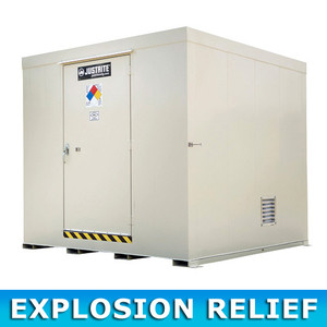 Outdoor Storage Locker, Non-Combustible, 16-Drum with Explosion Relief