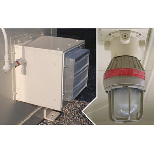 Justrite® Accessory, Interior Light and Exhaust Fan Electrical Package