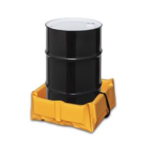 "Eagle® Folding Quik-Deploy SpillNest Spill Containment, 2' x 2' x 6"", 15 Gal, Yellow"