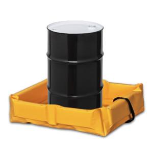 "Eagle® Folding Quik-Deploy SpillNest Spill Containment, 2' x 3' x 6"", 22 Gal, Yellow"