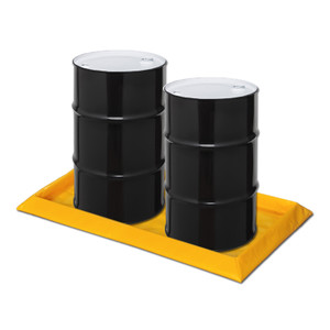 "Eagle® 2-Drum SpillNest Spill Containment, 32.25"" x 57.75"", 15 Gal, Yellow"