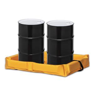 "Eagle® Folding Quik-Deploy SpillNest Spill Containment, 2' x 4' x 6"", 30 Gal, Yellow"