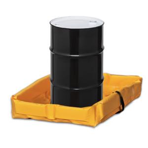 "Eagle® Folding Quik-Deploy SpillNest Spill Containment, 3' x 3' x 6"", 34 Gal, Yellow"