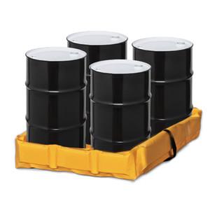 "Eagle® Folding Quik-Deploy SpillNest Spill Containment, 4' x 4' x 6"", 60 Gal, Yellow"
