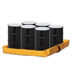 "Eagle® Folding Quik-Deploy SpillNest Spill Containment, 4' x 6' x 6"", 90 Gal, Yellow"