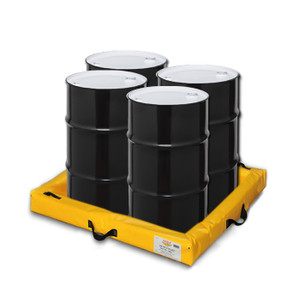 "Eagle® Quik-Deploy SpillNest Spill Containment, 4' x 4' x 4"", 40 Gal, Yellow"