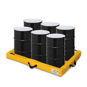 "Eagle® Quik-Deploy SpillNest Spill Containment, 4' x 6' x 4"", 60 Gal, Yellow"