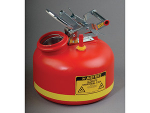 Justrite® Liquid Disposal Safety Can, Built-in Fill Gauge, 2 gal