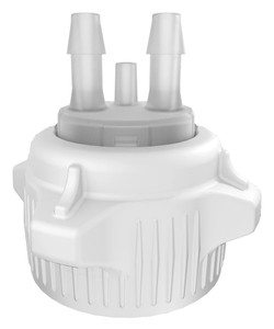 1L Volume 167-1102-OEM Copolyester Heavy Duty Vacuum Bottle Open 50mm Cap with Closed and 1//4 Hose Barb Adapters