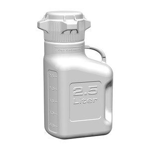 EZgrip Carboy, Polypropylene, 2500mL with 80mm VersaCap and Spigot