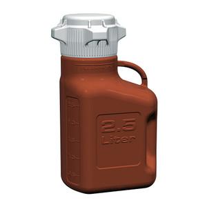 EZgrip Carboy, Amber HDPE, 2.5 Liter with 80mm VersaCap