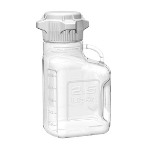 EZgrip Carboy, Clear PETG, 2.5 Liter with 80mm VersaCap