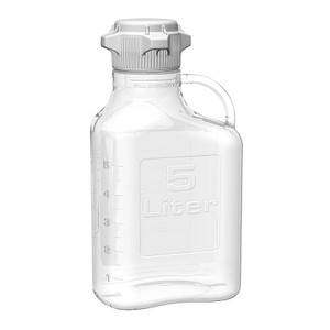EZgrip Carboy, Clear PETG, 5 Liter with 80mm VersaCap