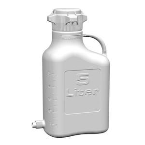 EZgrip Carboy, Polypropylene, 5 Liter with 80mm VersaCap and Spigot