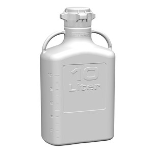 EZgrip Carboy, Polypropylene, 10 Liter with VersaCap 80mm