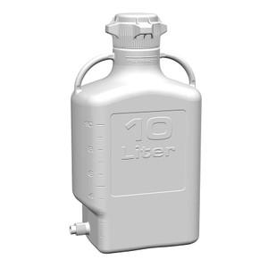 EZgrip Carboy, HDPE, 10 Liter with 80mm VersaCap and Spigot