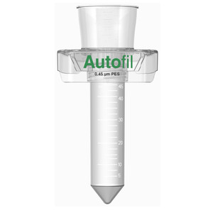 Autofil 50ml Sterile 0.45um High Flow PES Vacuum Filter Centrifuge Tube, Case/24