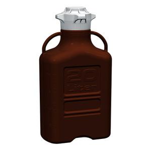 EZgrip Carboy, Dark Amber PP, 20 Liter with 120mm VersaCap