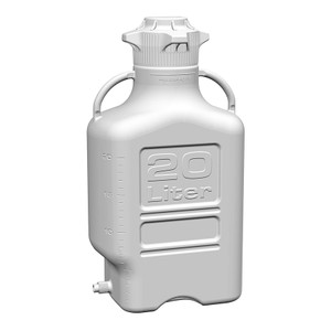 EZgrip Carboy, HDPE, 20 liter with 120mm VersaCap and Spigot