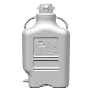 EZgrip Carboy, Polypropylene, 20 liter with 80mm VersaCap and Spigot