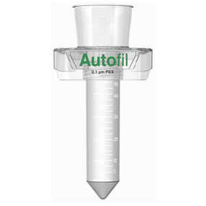 Autofil 50ml Sterile 0.1um High Flow PES Vacuum Filter Centrifuge Tube, Case/24