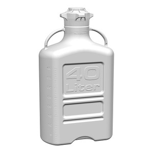 EZgrip Carboy, HDPE, 40 liter with 120mm VersaCap