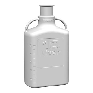 "EZgrip Carboy, Polypropylene, 10 Liter with 3"" Sanitary Cap"