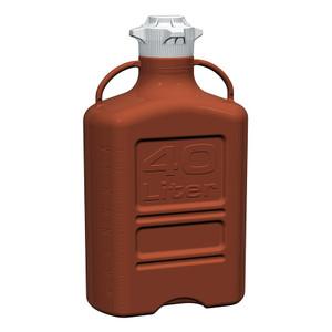 EZgrip Carboy, Amber HDPE, 40 liter with 120mm VersaCap