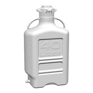 EZgrip Carboy, HDPE, 40 liter with 120mm VersaCap and Spigot