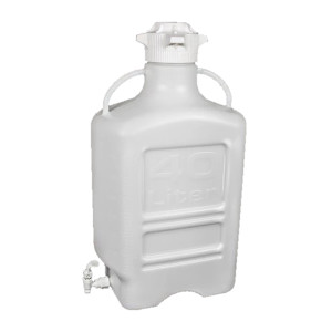 EZgrip Carboy, Polypropylene, 40 liter with 120mm VersaCap and Spigot