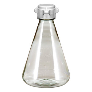 Erlenmeyer Vented Flasks, PC, 2 Liter with 53B VersaCap Sterile, EZclear, case/6
