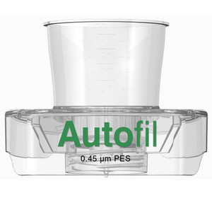 Autofil 50mL Sterile 0.45um High Flow PES Vacuum Filter Funnel Only, case/48